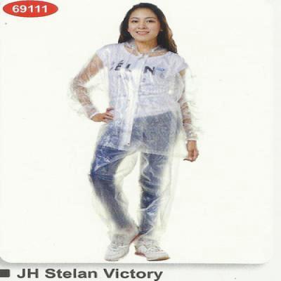 J4 jas hujan raincity stelan transparan victory 69111 transparant