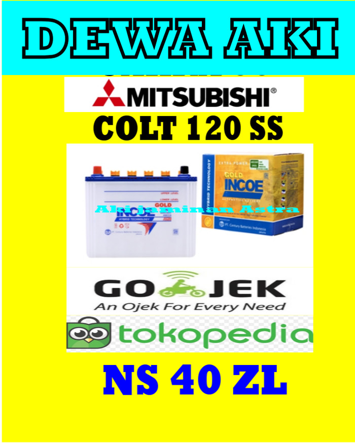 harga Aki mitsubishi colt t120ss incoe gold astra ns40zl or 34b19l or 32b20l Tokopedia.com