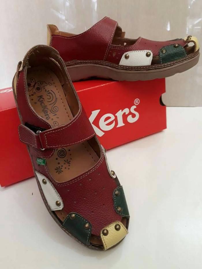 Jual sepatu Kickers cewek kulit asli sepatu sandal Kickers kulit ... e0358a5837