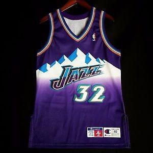 590f86963 Jual Jersey Authentic Karl Malone NBA Champion Utah Jazz Jersey Size ...