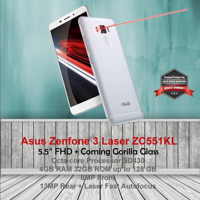 harga Asus zenfone 3 laser zc551kl 4/32 4g 13mp garansi resmi Tokopedia.com