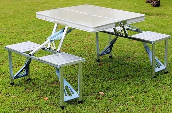 harga Meja kursi piknik lipat aluminium -  sumbawa shop Tokopedia.com