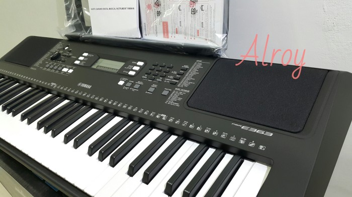jual keyboard yamaha psr e363 alroy tokopedia. Black Bedroom Furniture Sets. Home Design Ideas