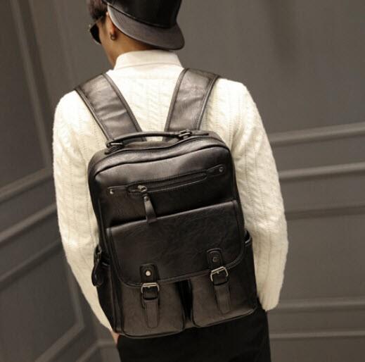 harga Backpack pria - tas ransel pria import kulit hitam - tas laptop Tokopedia.com