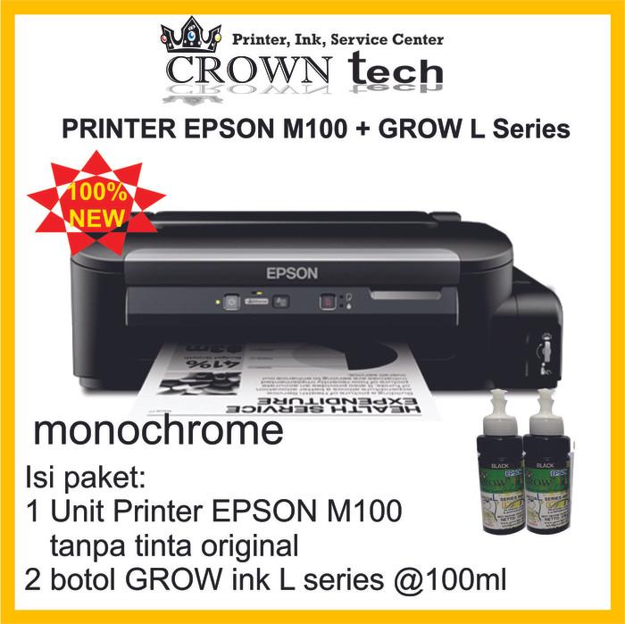 harga Epson m100 (mono printer) tinta grow ink l series Tokopedia.com