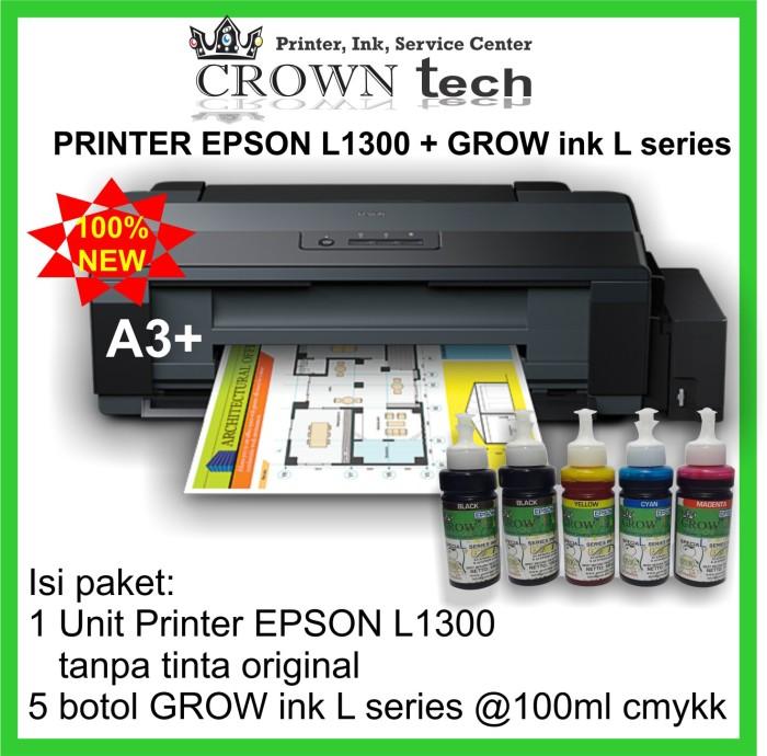 Jual Printer EPSON L1300 paket tinta GROW INK L series - Kota Surabaya -  CROWN TECH   Tokopedia