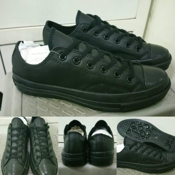 Jual Sepatu Converse Allstar 70s Seventies Leather Low Fullblack ... ea13466748