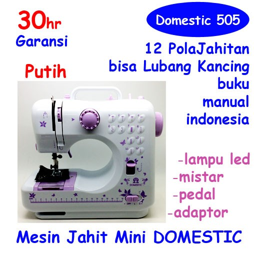 Sewing Machines Mini Lazada co id Source · 12 Pola Mesin Jahit FHSM 505A TIVAX Lubang