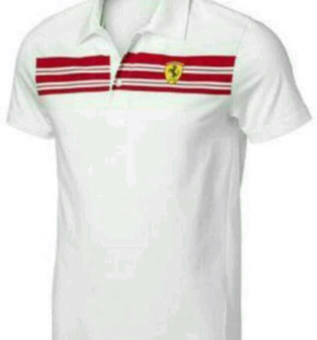 harga Kaos kerah ferrari putih/polo shirt Tokopedia.com