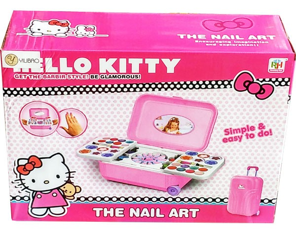 Mainan Alat Make Up anak Hello Kitty The Nail Art (Koper)