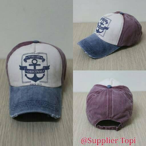 Topi baseball import jangkar maritime combi maron 4252903c5c