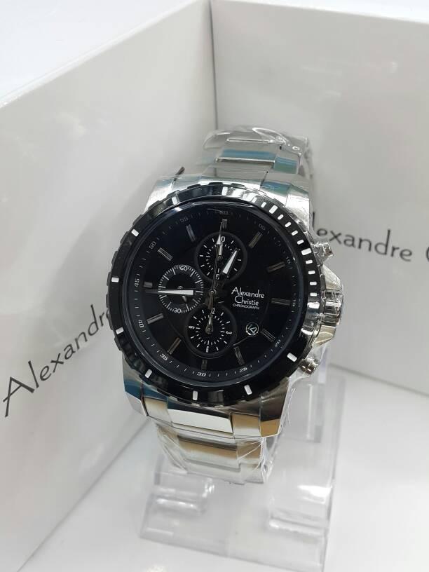 harga Jam tangan alexandre christie ac 6141 silver black original Tokopedia.com
