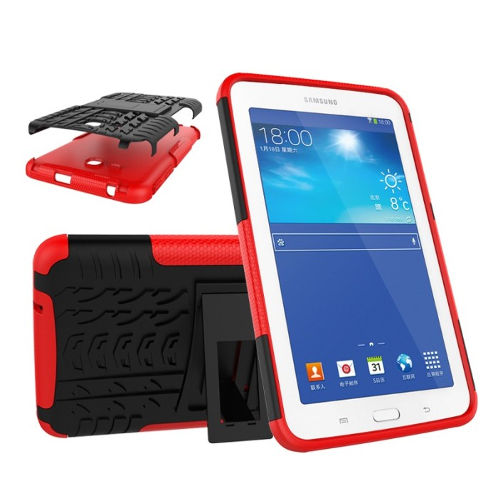 harga Samsung tab 3 lite 3v t110 t111 case casing back cover hp rugged armor Tokopedia.com