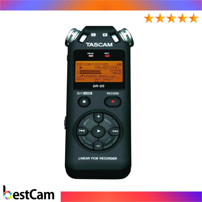 harga Tascam recorder dr-05 portable handheld - hitam Tokopedia.com