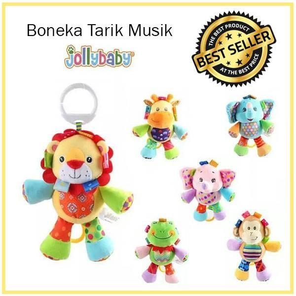 Boneka Tarik Musik Bayi Jollybaby (Musical Puller Hanging Baby Toy)