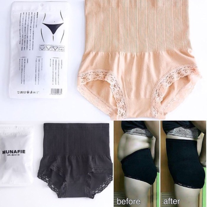 wainod - MUNAFIE ORIGINAL SLIMMING PANTS / Slim lace Panty - Hitam