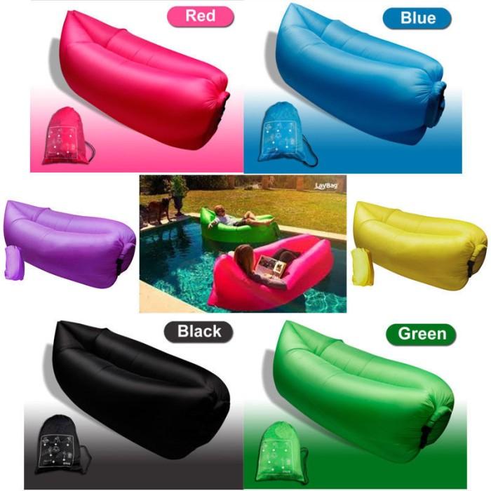 harga Lazy bag / air sofa bed - kursi angin lay bag bean matras kasur malas Tokopedia.com