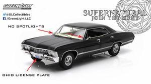 1:18 Artisan Supernatural 1967 Chevrolet Ohio License Plate Greenlight