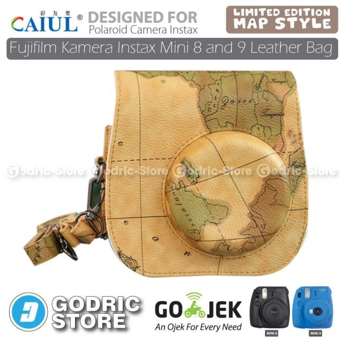 harga Fujifilm kamera instax 8s leather bag/tas/case - coklat map edition Tokopedia.com