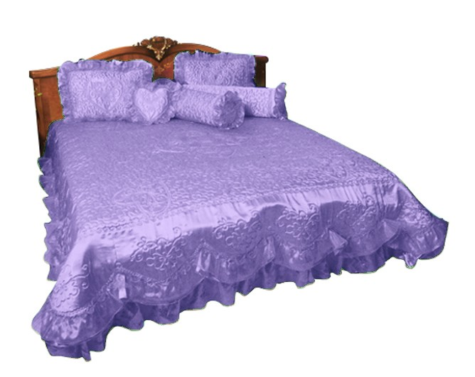 harga Sprei rosanna pengantin satu hati king 180x200x20 ungu Tokopedia.com