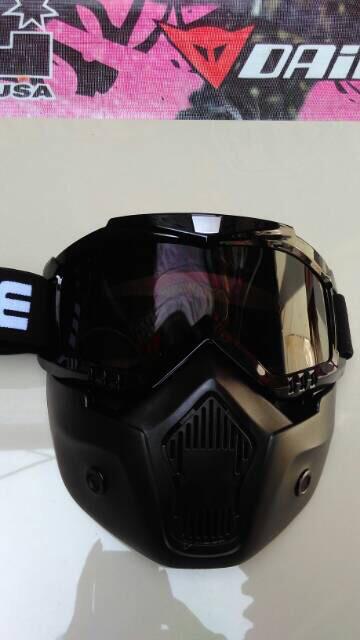 harga Goggle mask gogle mask pelindung wajah aksesoris pengendara motor Tokopedia.com