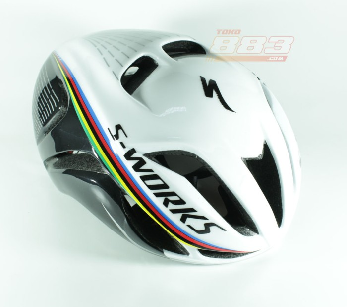 harga Helm Sepeda Specialized Evade White Black - Uci Stripe Tokopedia.com