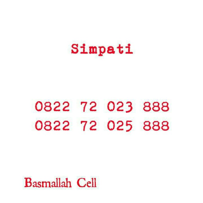 Telkomsel Simpati Nomor Cantik 0812 8888 1500 Cari Harga Terbaru Source · Nomor Cantik Simpati Seri