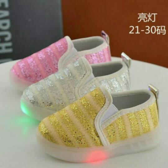 Grosir, promo selama lebaran sepatu led anak flatshoes lampu… bawah