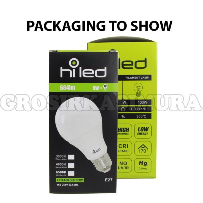 lampu bohlam/ Lampu bolam LED HiLed 9 Watt BULB Natural White FL128909 .