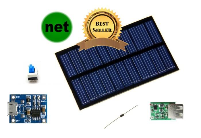 harga Paket 5 in 1 modul kit powerbank panel surya / solar cell diy Tokopedia.com