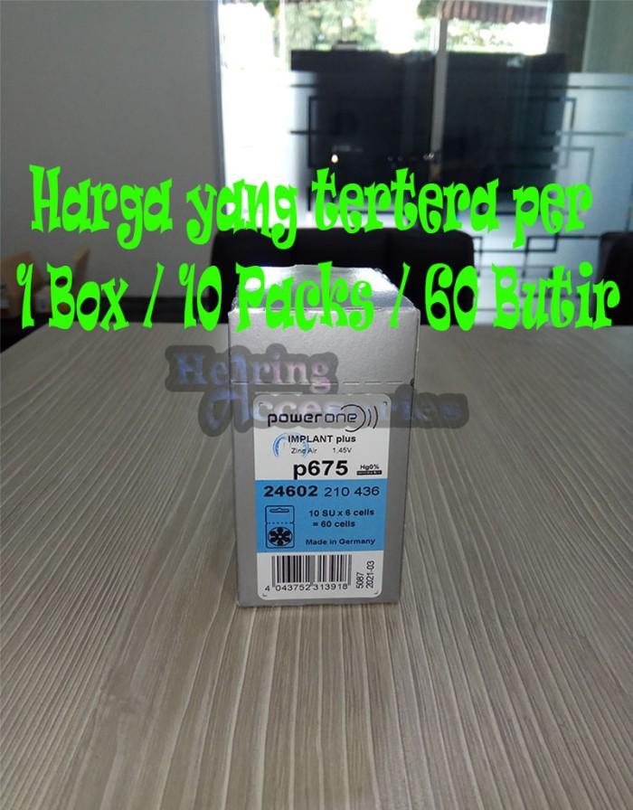 Baterai Alat Bantu Dengar,Hearing Battery,Power One Implant 675(P675