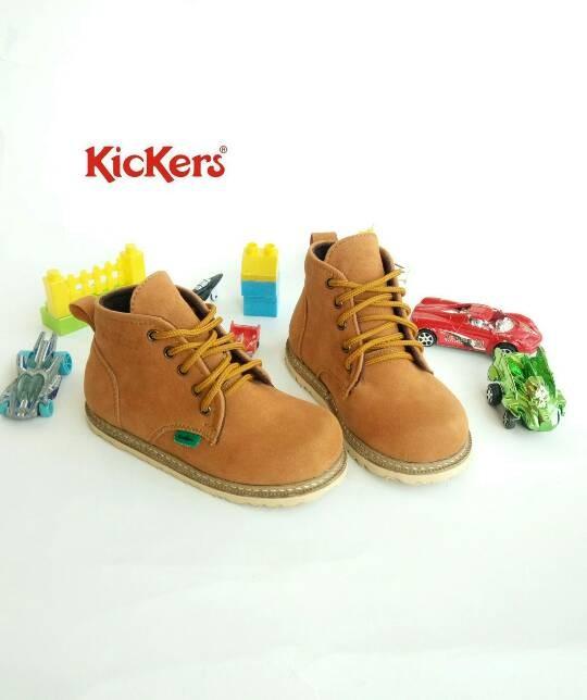 Sepatu anak   sepatu boot anak   sepatu kickers boot anak brown 04d5f70c1c