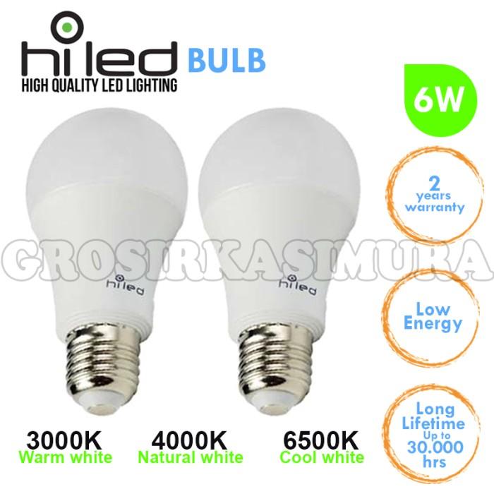 harga Lampu bohlam / lampu bolam led hiled 6 watt a60 cool white (fl128905) Tokopedia.com