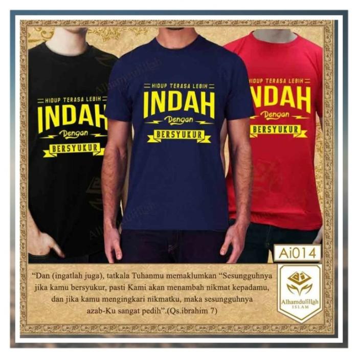 jual t shirt quotes islam hidup terasa lebih indah dengan