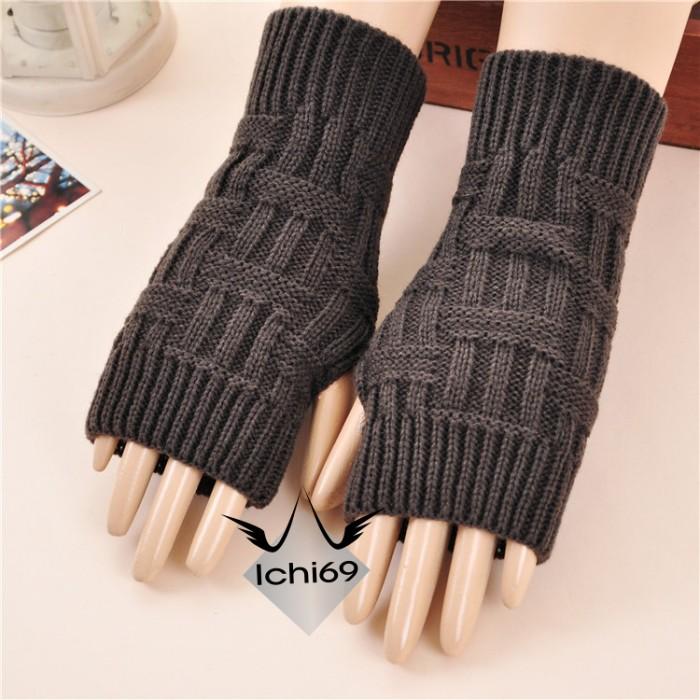harga Sarung tangan pendek fingerless korea rajut tanpa jari import 05 Tokopedia.com