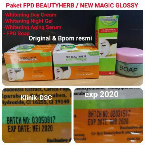 Paket Lengkap FPD BEAUTY HERBAL / Paket Lengkap Magic Glossy ORIGINAL