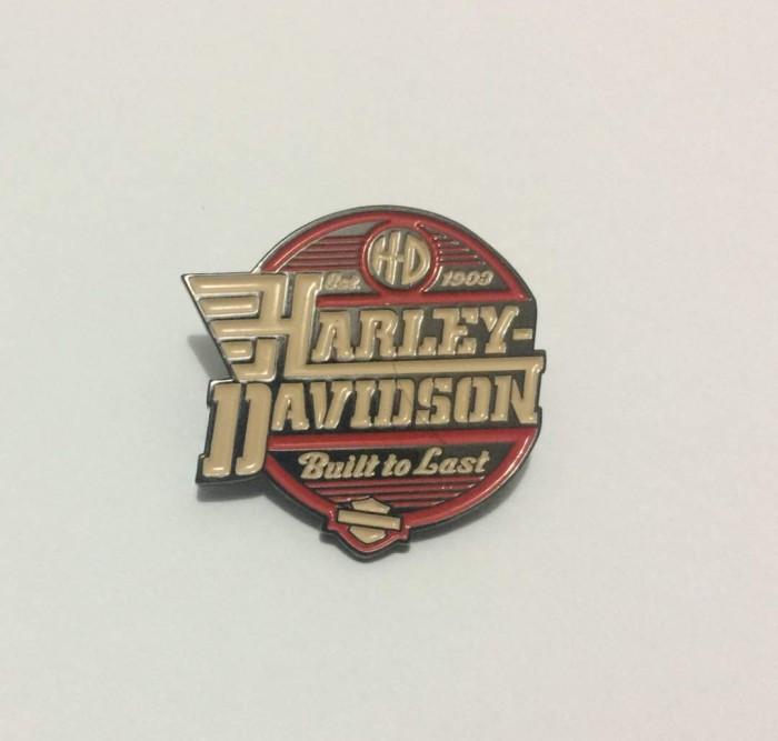 harga Pin jaket harley davidson built to last metal Tokopedia.com