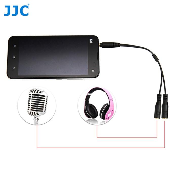 harga Jjc smartphone audio cable converter spy-10 for microphone-headphone Tokopedia.com