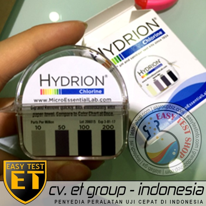 Foto Produk Hydrion Chlorine Test Kit | Tes Klorin Air | Testkit / Teskit Paper dari Sooper Shop