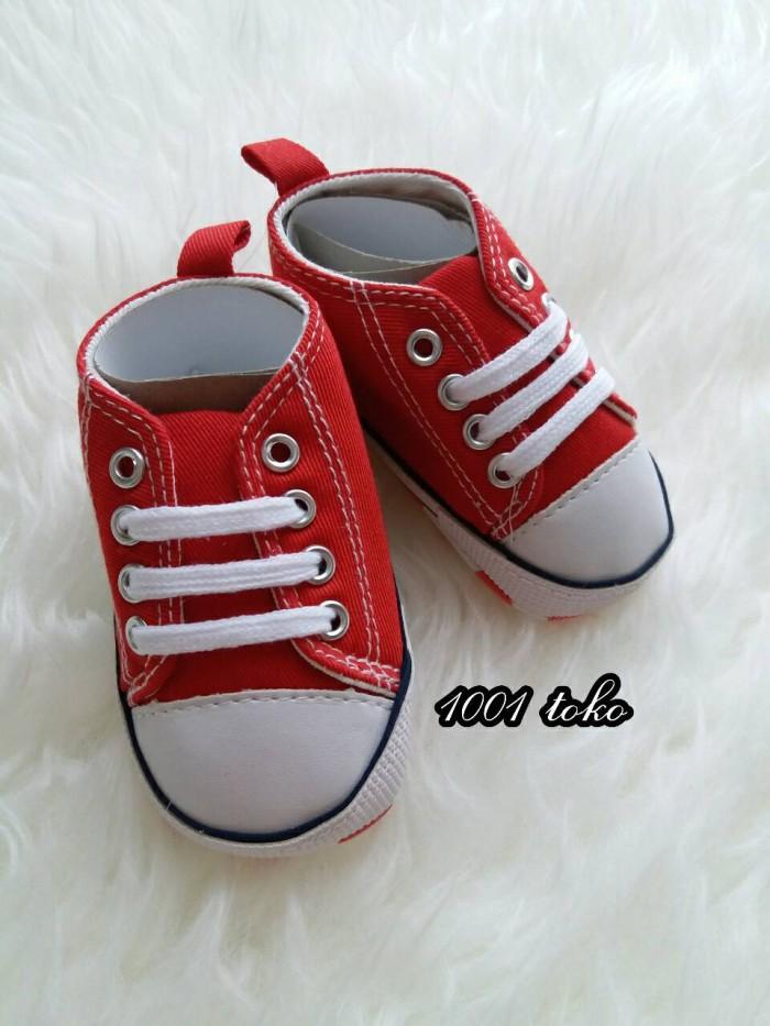 harga Sepatu prewalker bayi converse merah impor
