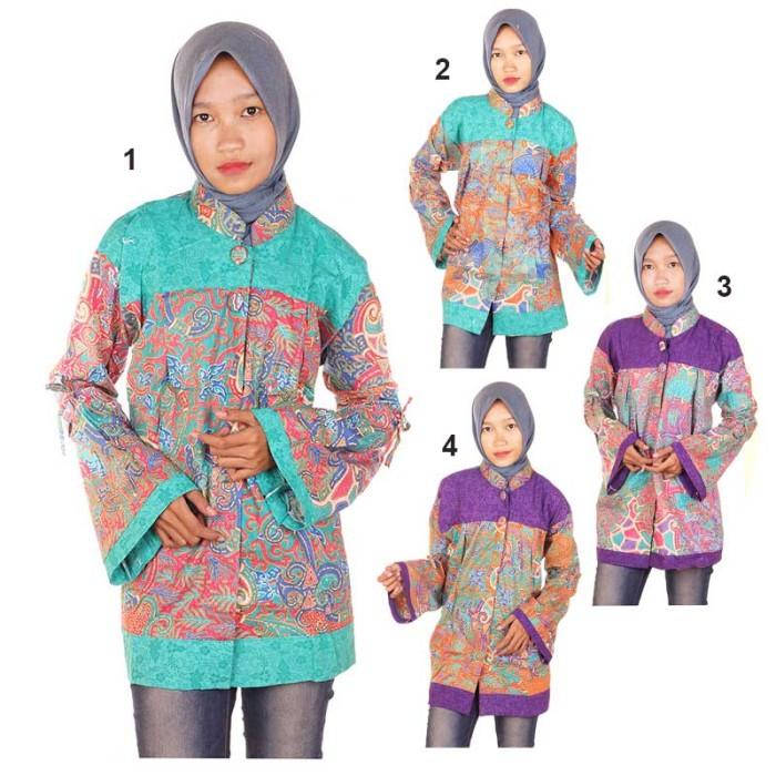 harga Blus batik blouse kerja ramadani Tokopedia.com