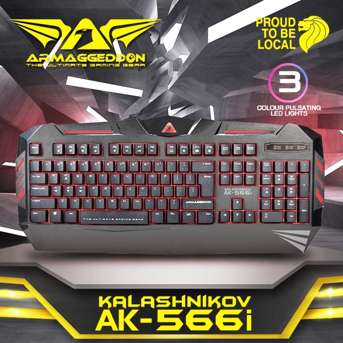 Keyboard Gaming Armaggeddon Kalashnikov AK 566i .