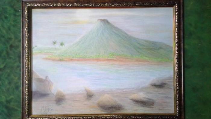 660 Koleksi Lukisan Pemandangan Pensil Warna HD