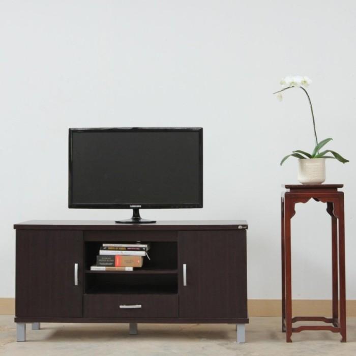 Kirana Furniture Audio Rack Rak TV Meja TV BF 828 DM Dark