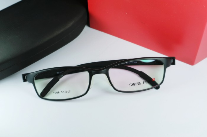 Jual Frame Kacamata Minus Swiss Plus 1056 Black Doff - Mav!s Eyewear ... 706fca48a2