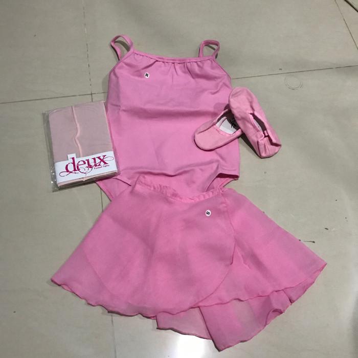 harga Baju ballet anak paket c (baju,stocking,sepatu ballet, rok chiffon) Tokopedia.com