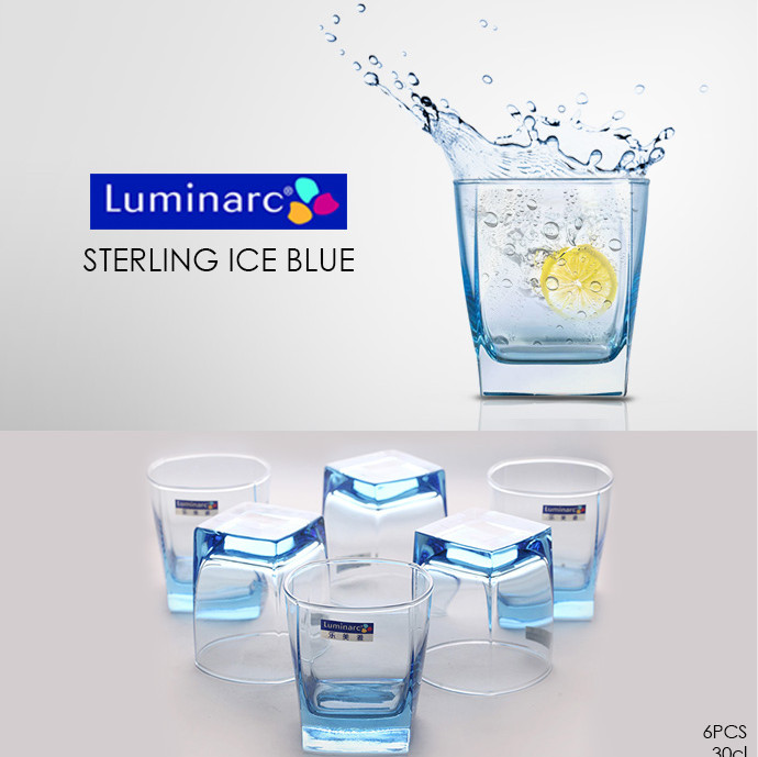 Luminarc sterling ice blue 6pcs / gelas set ...