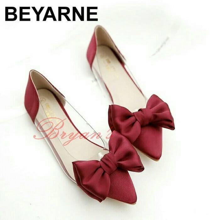 harga Flat mika bowtie merah sandal sepatu wanita heels wedges boot kets Tokopedia.com