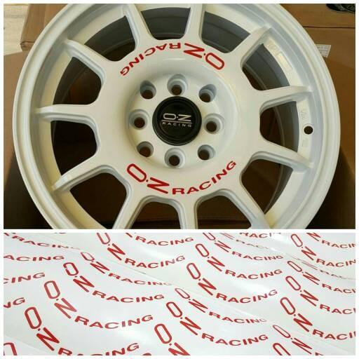 harga Set 8 pcs stiker untuk 4 velg mobil oz racing leggenda Tokopedia.com