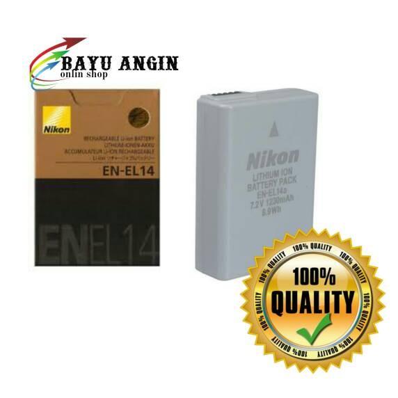 harga Battery nikon en-el14a untuk nikon df/d3300/5300/5200/3200/3100/5100 Tokopedia.com
